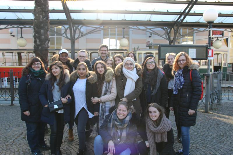 Teilnehmerinnen und Teilnehmer am Erasmus+Projekt